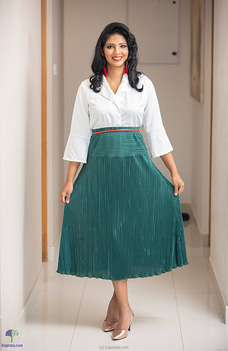 Green pleated skirt By Zie at Kapruka Online for specialGifts