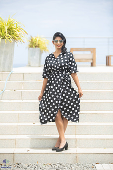 Polka wrap dress By Zie at Kapruka Online for specialGifts