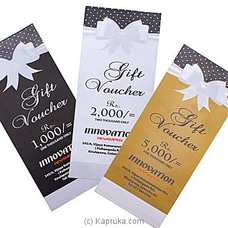 Innovation Gift Voucher By Innovation Revamped at Kapruka Online for specialGifts