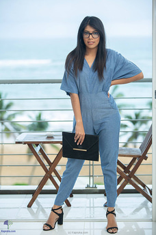 Chambray Jumpsuitte By Zie at Kapruka Online for specialGifts