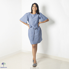 Chambray self tie dress-27 By Zie at Kapruka Online for specialGifts