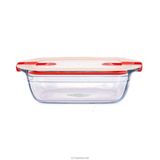 Rectangular Dish With Plastic Lid wtih 2 Steam Valves 28191 By Homelux at Kapruka Online for specialGifts
