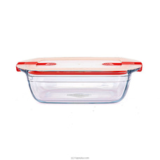 Rectangular Dish With Plastic Lid wtih 2 Steam Valves 28192 By Homelux at Kapruka Online for specialGifts