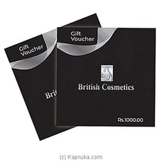 British Cosmetics Gift Voucher- Rs. 1000 By British Cosmetics at Kapruka Online for specialGifts