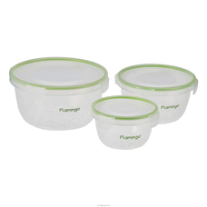 Flamingo 3 Set Of Airtight Food Container FL-5008ATCST By Flamino|Browns at Kapruka Online for specialGifts