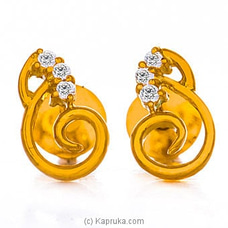 Vogue 22K Gold Ear Stud Set With 6 (c/z) Rounds By Vogue at Kapruka Online for specialGifts