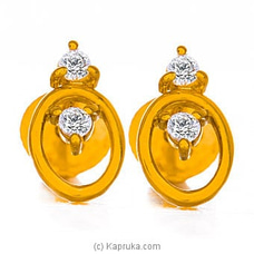 Vogue 22K Gold Ear Stud Set With 4 (c/z) Rounds By Vogue at Kapruka Online for specialGifts