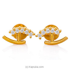 Vogue 22K Gold Ear Stud Set With 10 (c/z) Rounds By Vogue at Kapruka Online for specialGifts