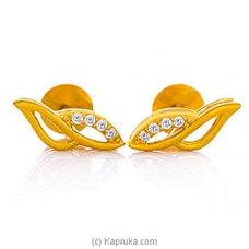 Vogue 22K Gold Ear Stud Set With 8 (c/z) Rounds By Vogue at Kapruka Online for specialGifts