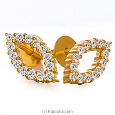 Vogue 22K Gold Ear Stud Set With 28 (c/z) Rounds By Vogue at Kapruka Online for specialGifts