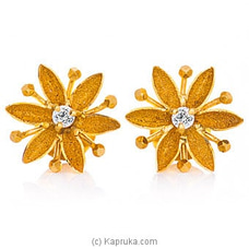 Vogue 22K Gold Ear Stud Set With 2 (c/z) Rounds By Vogue at Kapruka Online for specialGifts