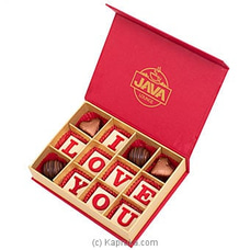 Java `I Love You` 12 Piece Chocolate Box ANNIVERSARY,FORHIM at Kapruka Online