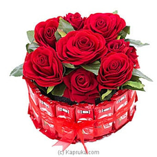 Love Hugs Kit Kat With Roses By Kapruka Hamper at Kapruka Online for specialGifts