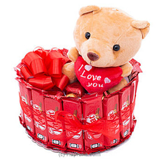 Beauty Of Romance KITKAT With Love Bear By Kapruka Hamper at Kapruka Online for specialGifts