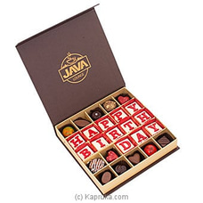 Java Happy B`day 25 Piece Chocolates By Java at Kapruka Online for specialGifts