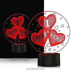 LED Light Black Stand Table Ornament With Hearts By Habitat Accent at Kapruka Online for specialGifts