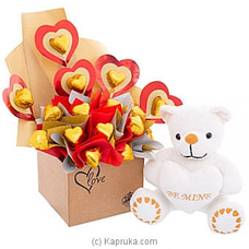 Java Heartfelt Love Chcolates With Cuddly Teddy By Java at Kapruka Online for specialGifts