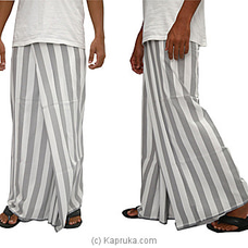 Pure Cotton Handloom Sarong Gray and white mixed- CS1124 By Cotton Weavers at Kapruka Online for specialGifts