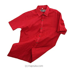 Red colour mixed Mens shirt-HS0101 By Cotton Weavers at Kapruka Online for specialGifts