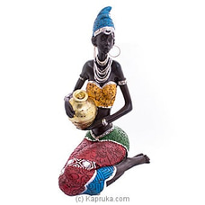 African Lady Figurine Home Decor Ornament By Habitat Accent at Kapruka Online for specialGifts