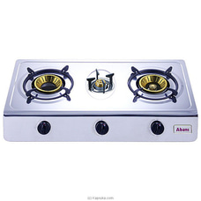 Abans Three Burners Gas Stove Stainless Steel Table Top ABCKTT13XS1605 By Abans at Kapruka Online for specialGifts
