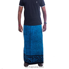 Blue And Black Mixed Sarong at Kapruka Online