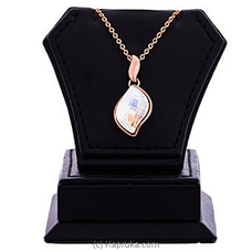 White Crystal Pendant With Necklace at Kapruka Online