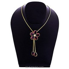 Crystal Flower Pendant With Necklace By Swarovski at Kapruka Online for specialGifts