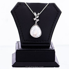 White Crystal Pendant With Necklace  By Swarovski at Kapruka Online for specialGifts
