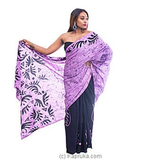 Light purple and black Mixed Batik Saree   By  Islandlux at Kapruka Online for specialGifts