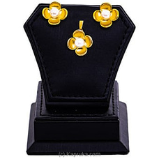Gold Plated Earring - Pendent Set - GP926 at Kapruka Online