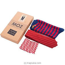 MOZ Necktie And Socks (Red) - Mens Gift Set By MOZ at Kapruka Online for specialGifts