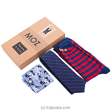 MOZ Necktie And Socks (Blue) By MOZ at Kapruka Online for specialGifts