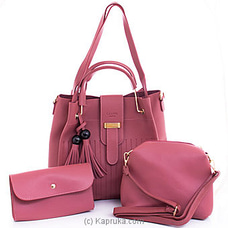 Women`s 3 Piece Handbag Setat Kapruka Online for specialGifts