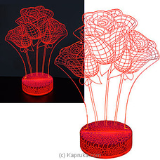 LED Light Table Ornament With Roses By Habitat Accent at Kapruka Online for specialGifts