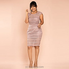Elegant Lace Cocktail Dress -Shade of pink -CH 020 By CH Glamstore at Kapruka Online for specialGifts