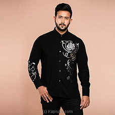 Classy occassional wear gents shirt with Silver foil print -CH 023 By CH Glamstore at Kapruka Online for specialGifts