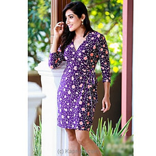 Purple Wrap Dress -2021021120 By Ample at Kapruka Online for specialGifts
