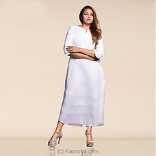 Linen Mixed Dress -3020766 By innovation at Kapruka Online for specialGifts