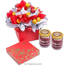 Java Mesmerizing Aura Of Love Chocolates With Two Red Velvet Jars By Java at Kapruka Online for specialGifts