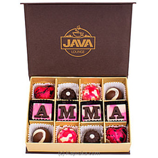 Java `Amma` 12 Piece Chocolate Box By Java at Kapruka Online for specialGifts