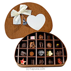 18 Piece Chocolate Half Circle Brown Box (GMC) By GMC at Kapruka Online for specialGifts