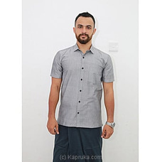 Cotton Weavers Men`s Handloom shirt gray HS0113 By Cotton Weavers at Kapruka Online for specialGifts