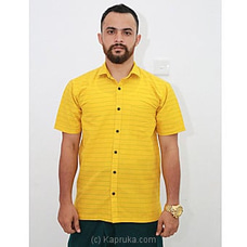 Cotton Weavers Men`s Handloom Shirt Yellow -HS0120 By Cotton Weavers at Kapruka Online for specialGifts