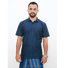 Cotton Weavers Men`s Handloom Shirt Blue- HS0121 By Cotton Weavers at Kapruka Online for specialGifts