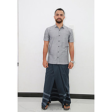 Cotton Weavers Men`s Handloom Sarong Gray  -CS1138 By Cotton Weavers at Kapruka Online for specialGifts