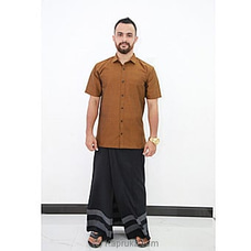 Cotton Weavers Men`s Handloom Sarong black -CS1138 By Cotton Weavers at Kapruka Online for specialGifts
