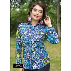 Linene Flaps blouse LSH090003PRINTED BLUE By Lady Holton at Kapruka Online for specialGifts