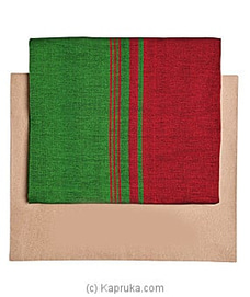 Homins Handloom Sarong-Green and red mixed-SRG/GEN/PLA/B02 By Homins at Kapruka Online for specialGifts