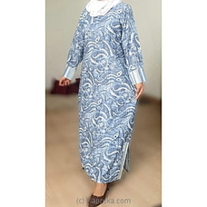 blue printed cotton -ZM175046 By zamorah at Kapruka Online for specialGifts